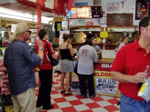inside Olde Tyme Grocery