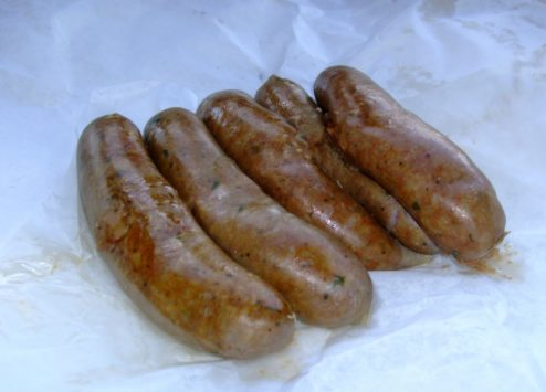 Boudin at Johnson's Boucaniere Lafayette Louisiana