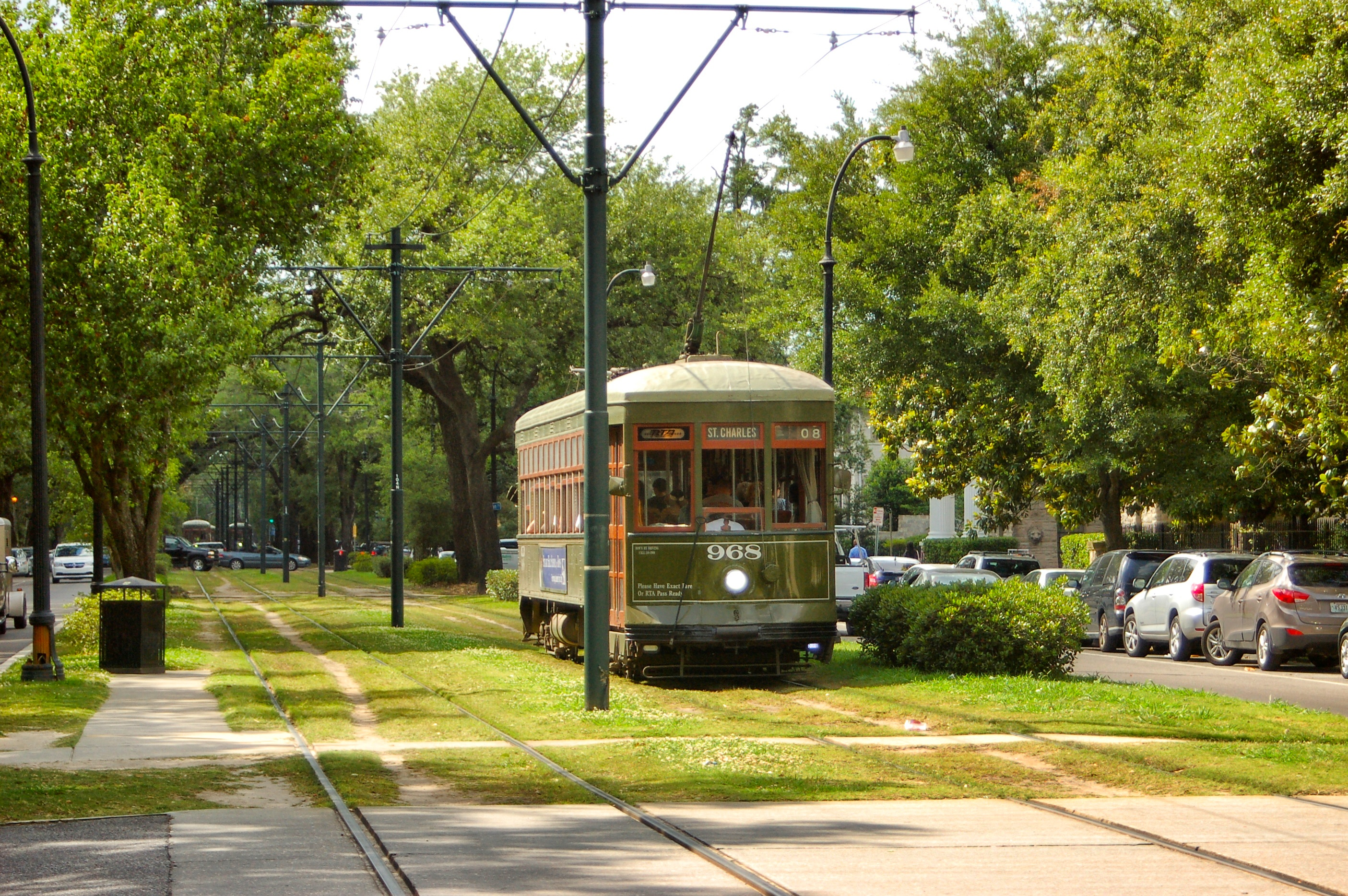 Ride a street car through the Garden District