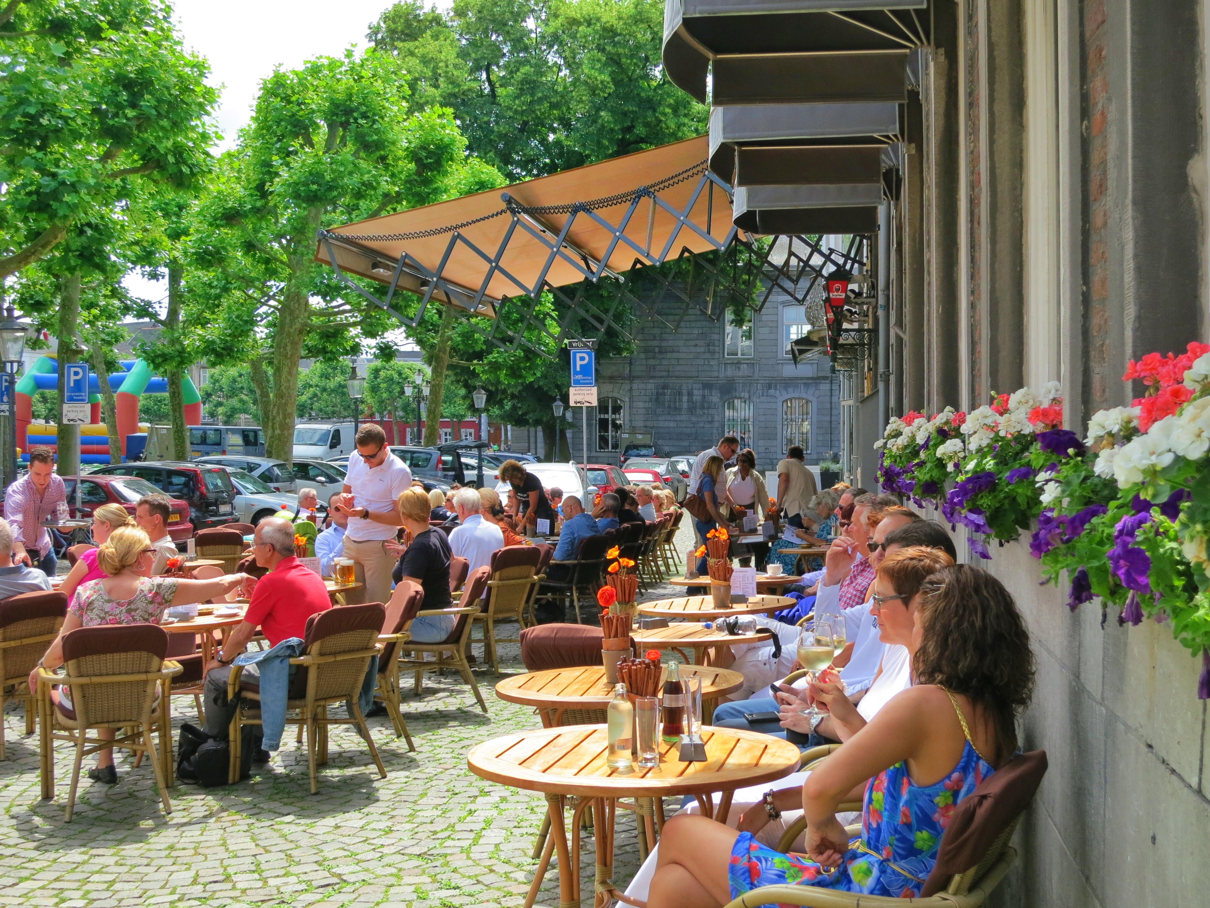 An outdoor cafe in Maastricht