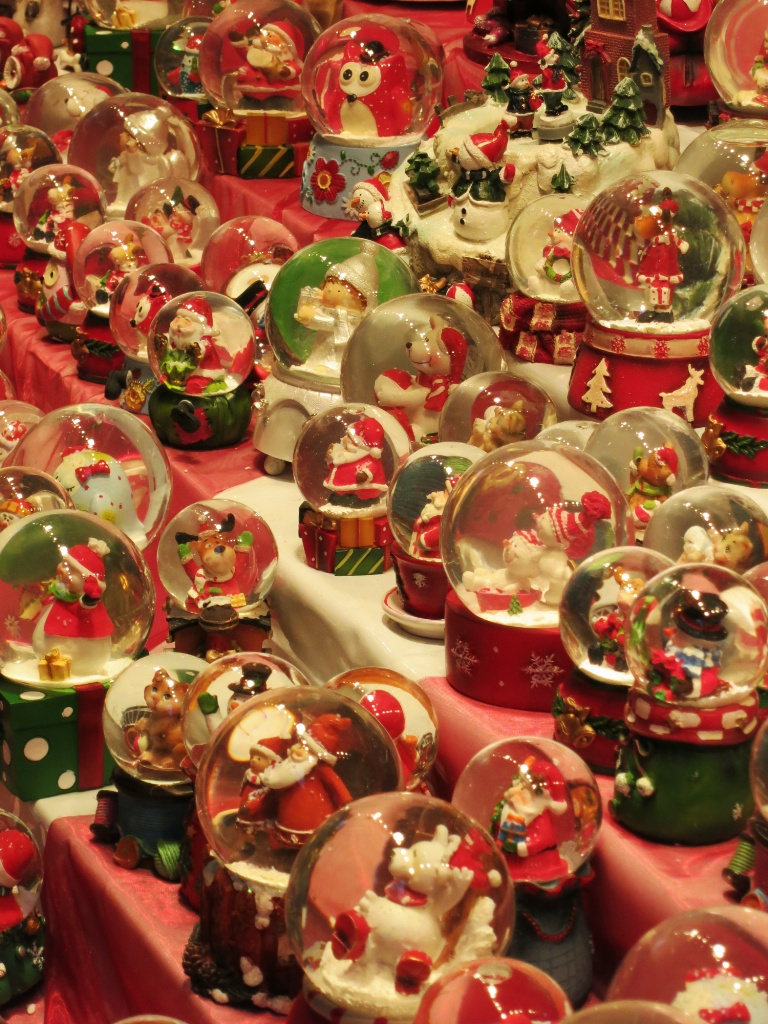 Globes Dusseldorf Christmas Market
