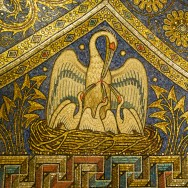 'Pelican in Her Piety' Mosaic