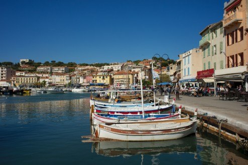 Boats at Waterfront Cassis France
