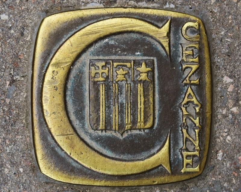 Brass Marker Cezanne Walk Aix en Provence France