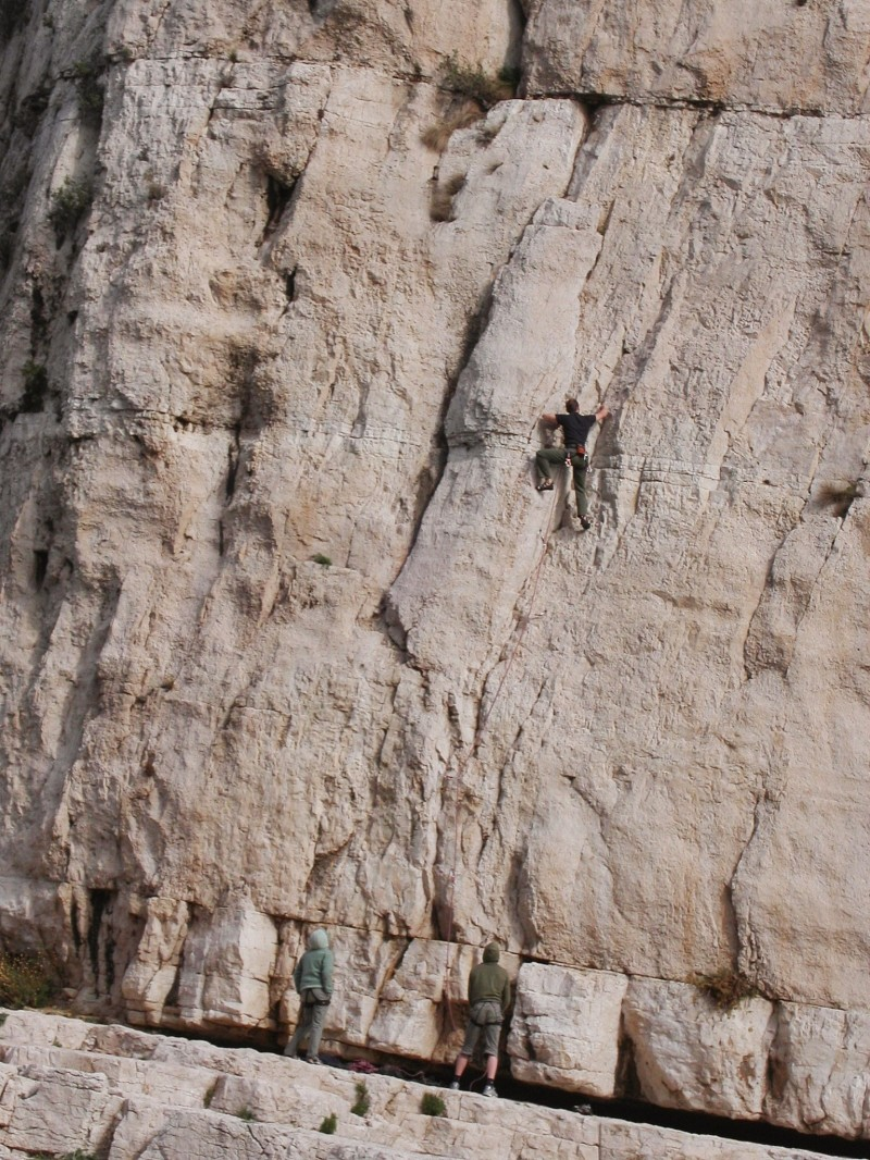 Climbing in Cassis
