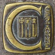 Brass Marker 2 Cezanne Walk Aix en Provence France