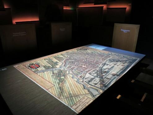 City planning map Het Grachtenhuis Museum Amsterdam
