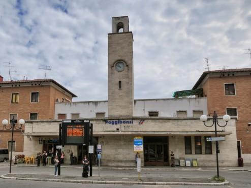 Poggibonsi train station and bus stop
