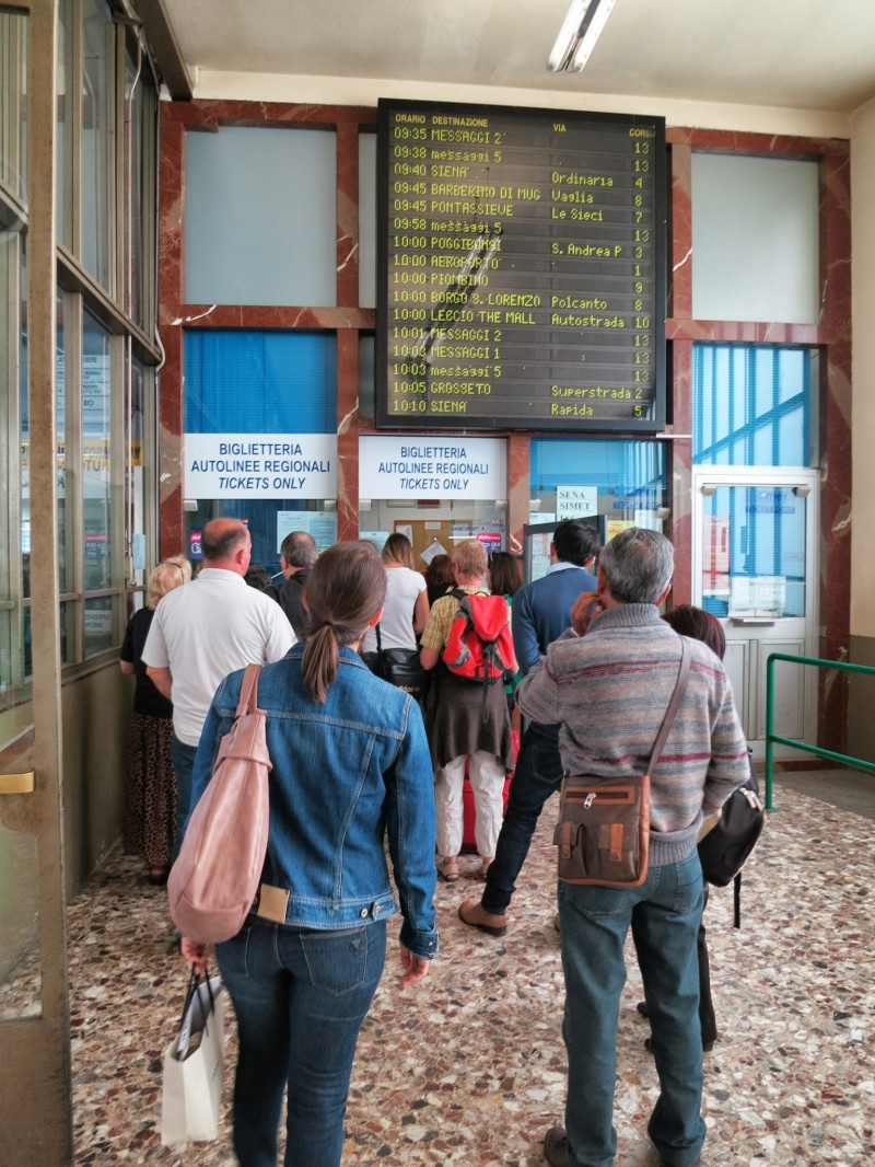Purchase tickets at Sita bus station in Florence