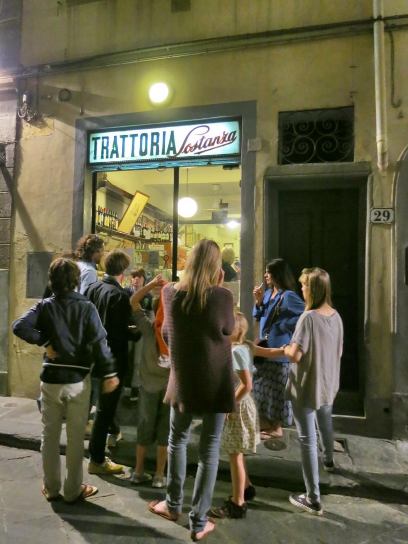 The line at Trattoria Sostanza