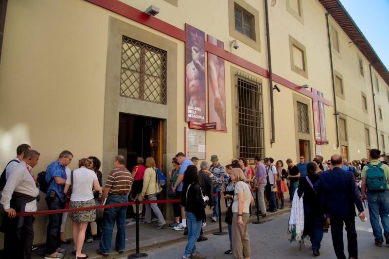 Waiting in line at Galleria Della Accademia