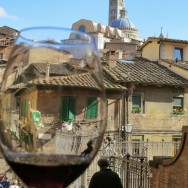 View from Zest Wine Bar Siena