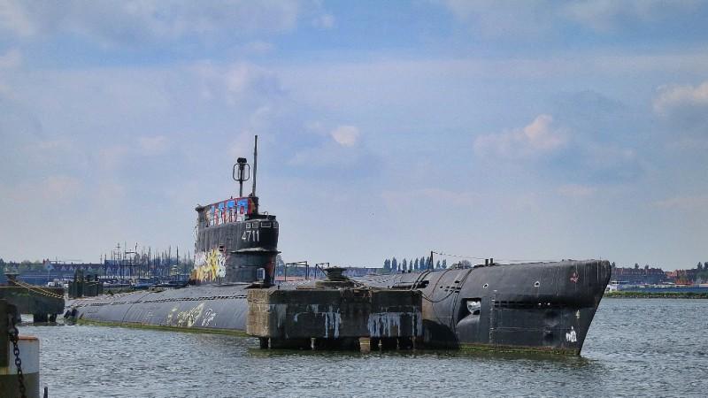 Defunct submarine NDSM Werf Amsterdam