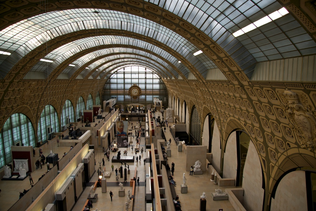 Entrance View Of Main Hall Musee Dorsay Paris France