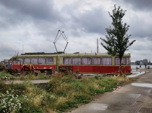 Old Tram at NDSM Werf Amsterdam