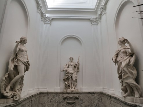 Statues Above Grand Staircase