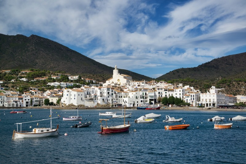 Cadaqués Spain Boats in Harbor