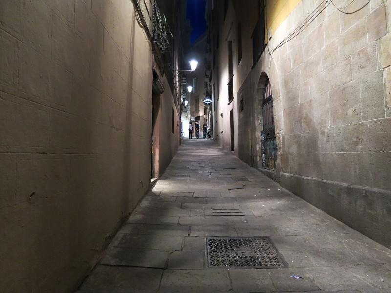 Alley in Barri Gòtic Barcelona Spain
