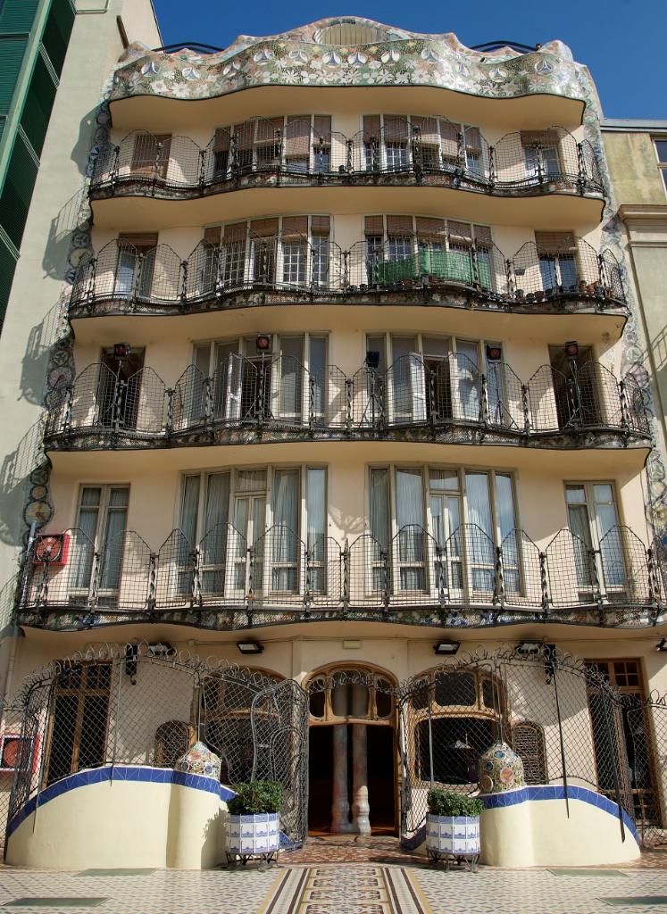 Back terrace Casa Batllo Barcelona