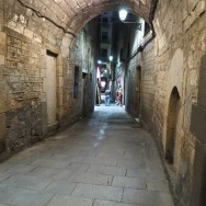 Barri Gòtic alley Barcelona Spain
