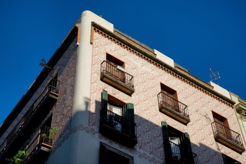Building in Borne neighborhood Barcelona Spain