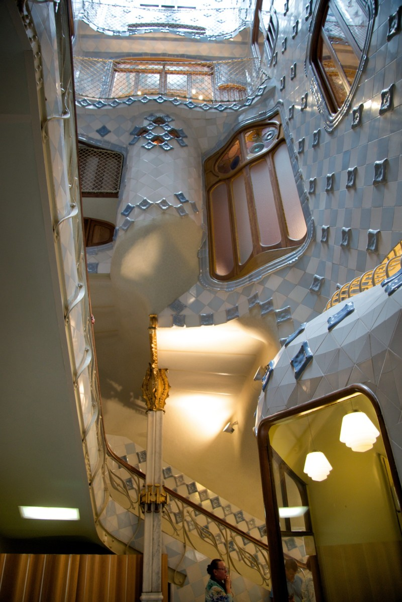 Light Well and Stairs Casa Batllo Barcelona
