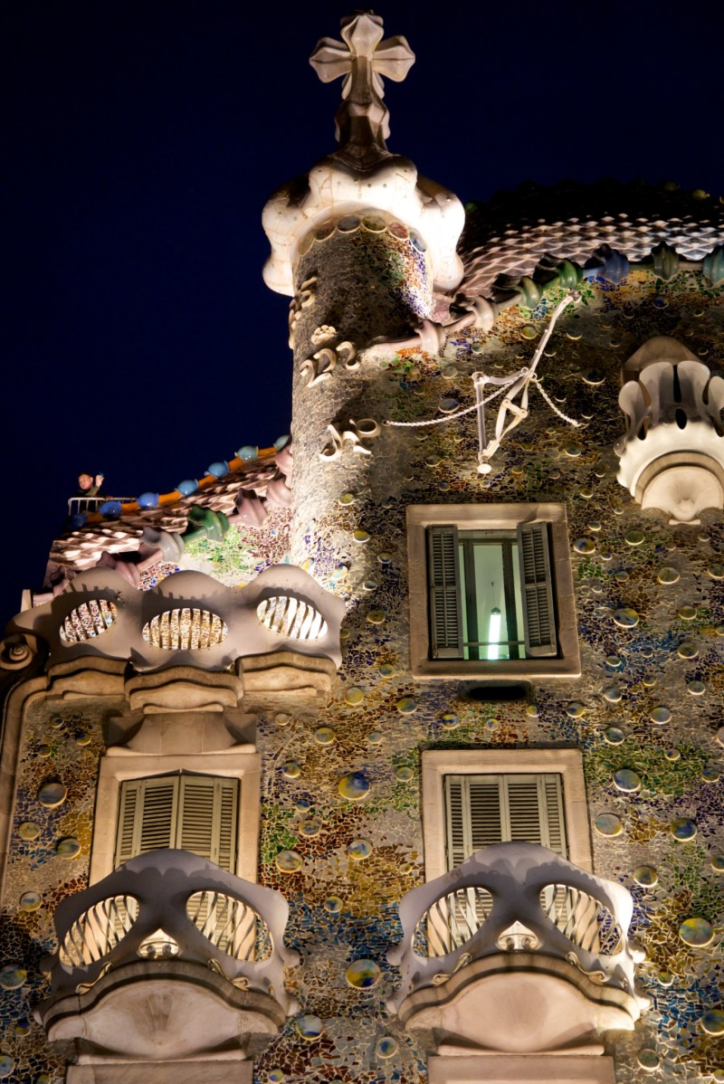 Casa Batllo at Night Barcelona