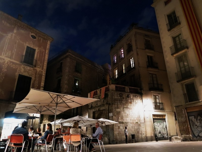 Dining in the Barri Gòtic Barcelona Spain