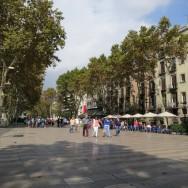 La Rambla at noon Barcelona Spain