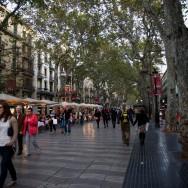 La Rambla late afternoon Barcelona Spain