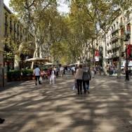 Strolling on La Rambla Barcelona Spain