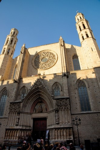 The Basilica of Santa Maria del Mar Barcelona Spain