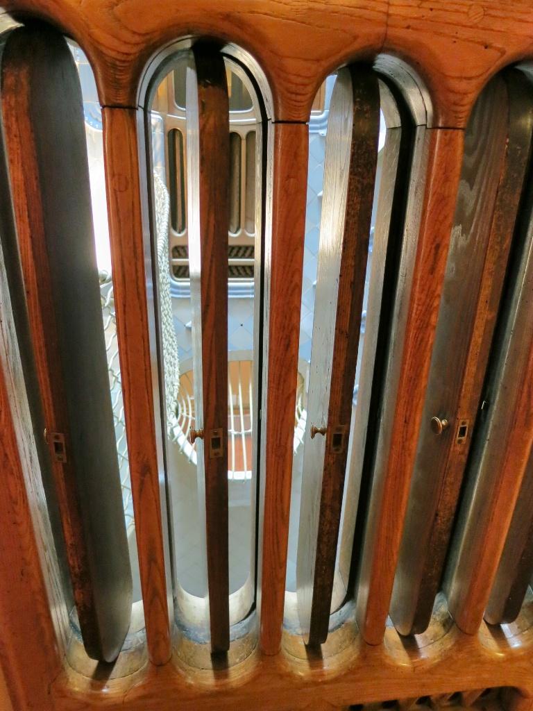 Wooden ventilations system Casa Batllo Barcelona