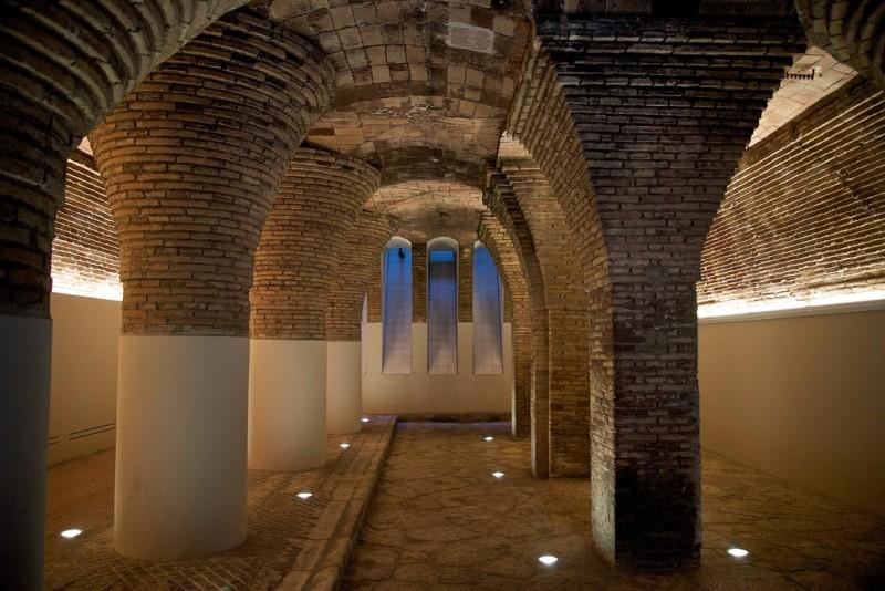 Basement Pillars Palau Güell Barcelona Spain