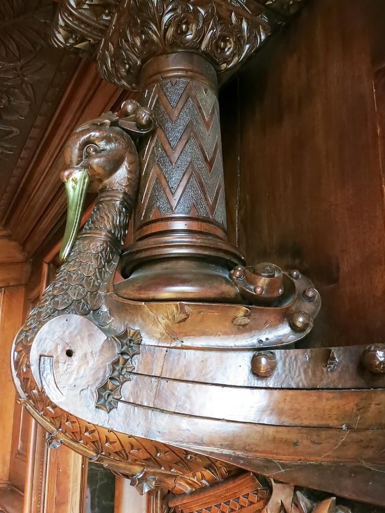 Carved Wood Detail Palau Güell Barcelona Spain
