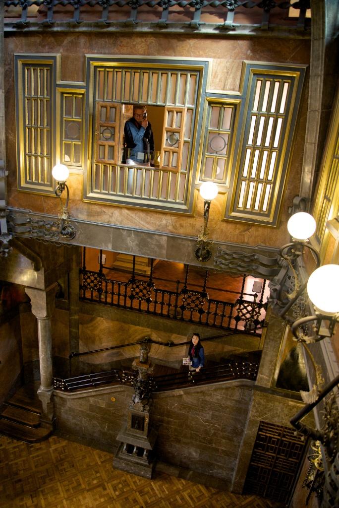 Central Hall Palau Güell Barcelona Spain