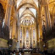 Choir Stalls and Altar Barcelona Cathedral