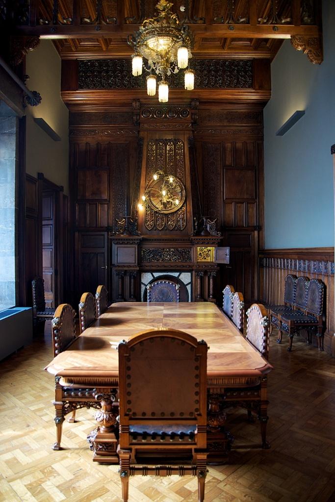Dining Room Palau Güell Barcelona Spain