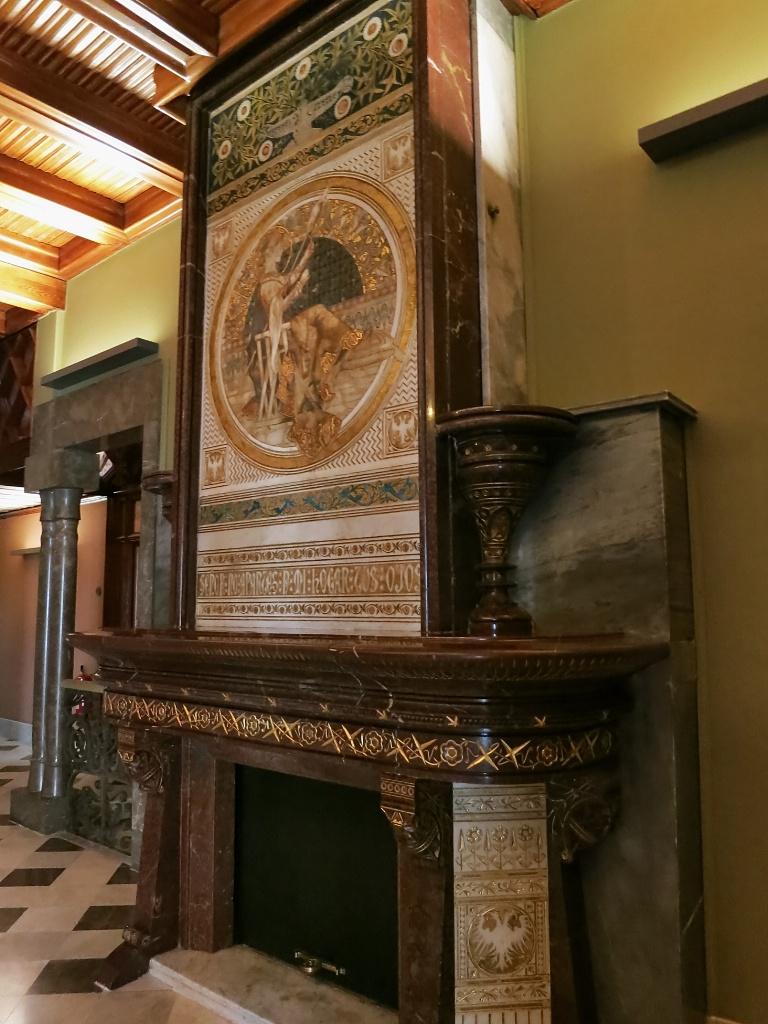 Fireplace Palau Güell Barcelona Spain