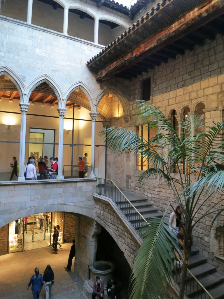 Gift Shop and Exit Courtyard Picasso Museum Barcelona Spain