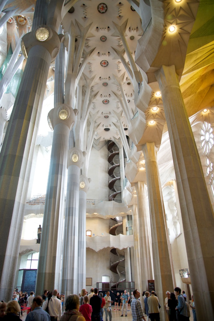 Lateral Aisle and Spiral Stairs La Sagrada Familia Barcelona