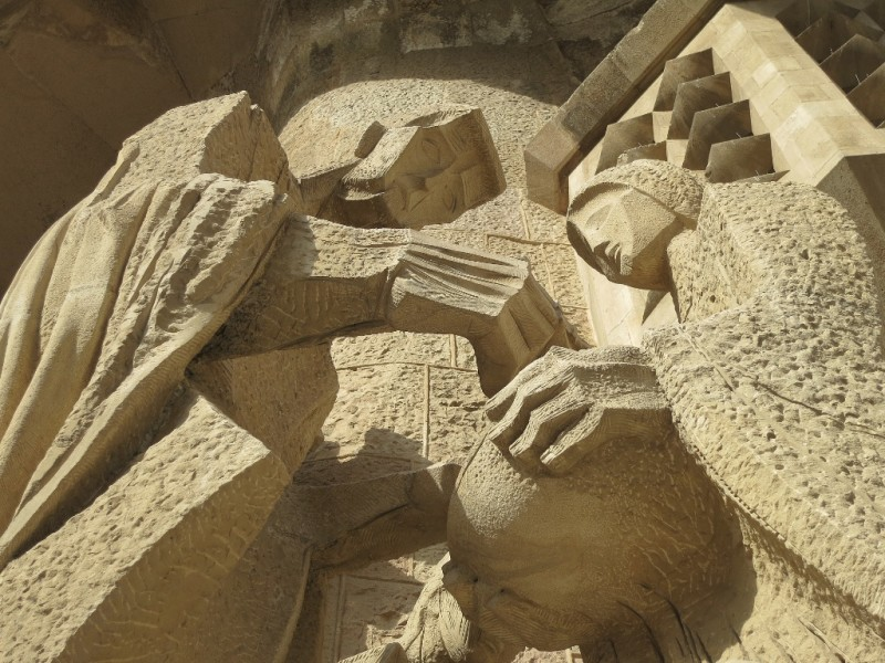 Passion Facade Detail La Sagrada Familia Barcelona