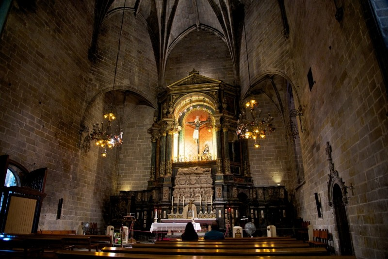 Side Chapel Of Holy Christ Of Lepanto Barcelona Cathedral