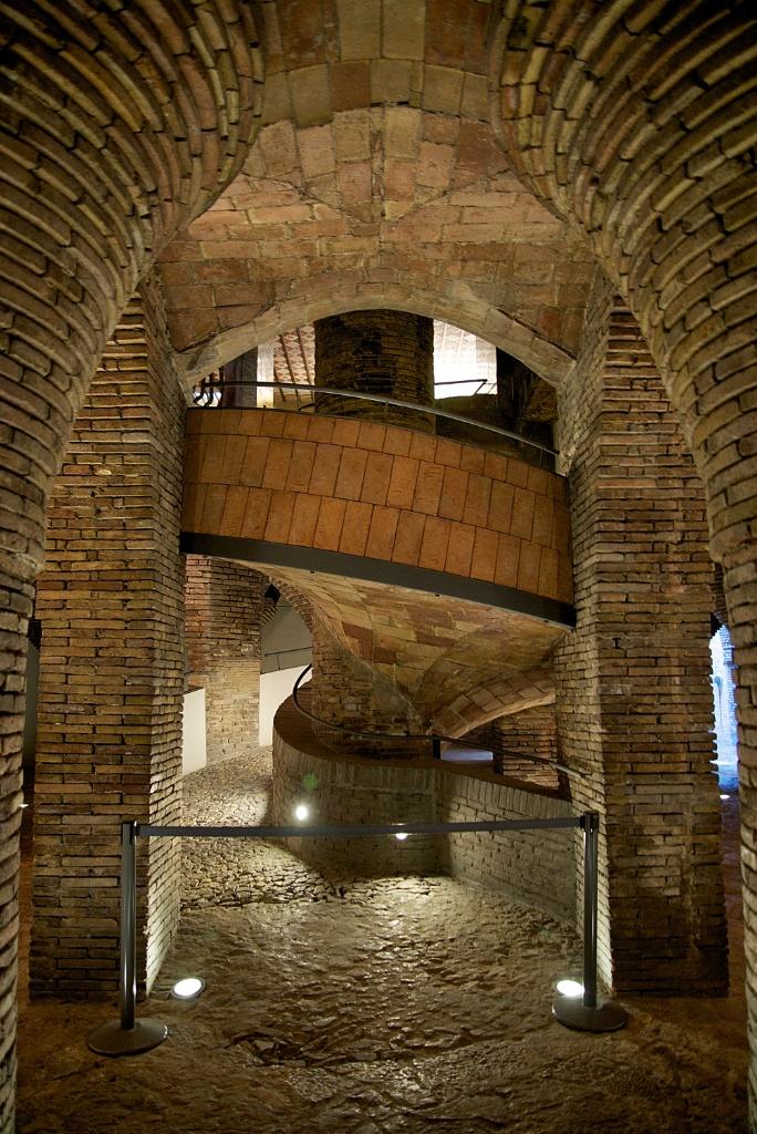 Spiral Horse Ramp Palau Güell Barcelona Spain
