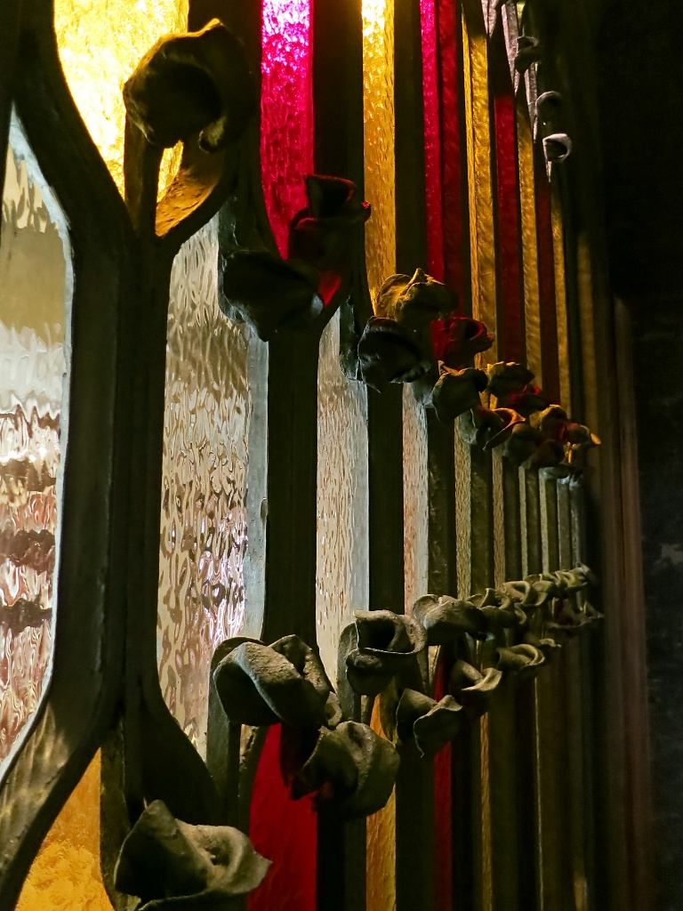 Stained Glass Palau Güell Barcelona Spain