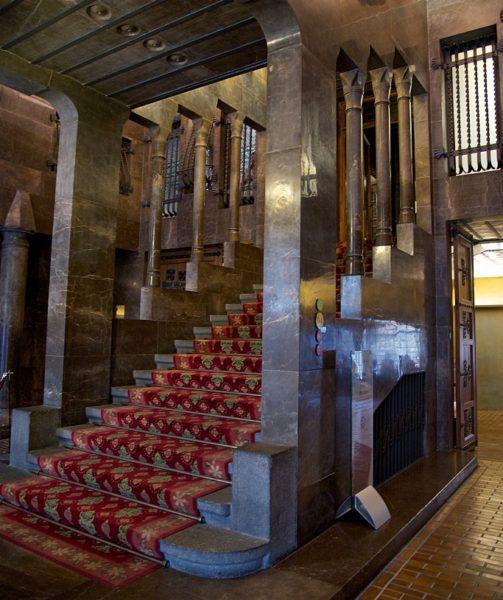 Staircase Palau Güell Barcelona Spain