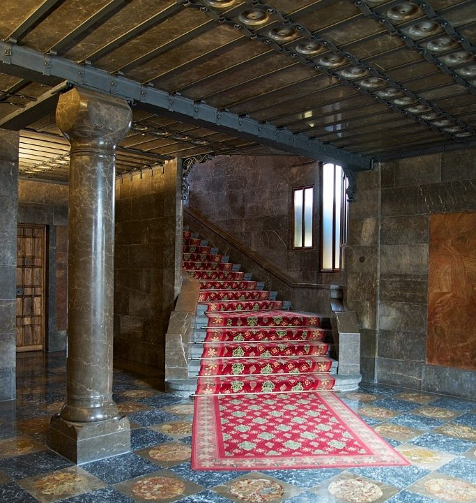 Staircase of Honor Palau Güell Barcelona Spain