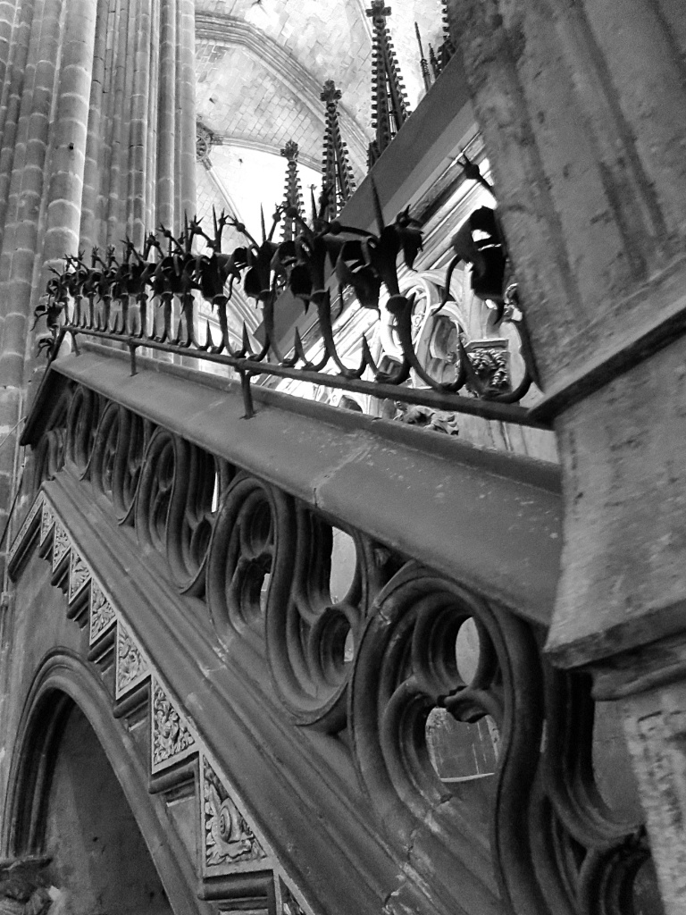 Stairs And Hand Rails Barcelona Cathedral