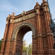 Arc de Triomf Parc de la Ciutadella Barcelona Spain