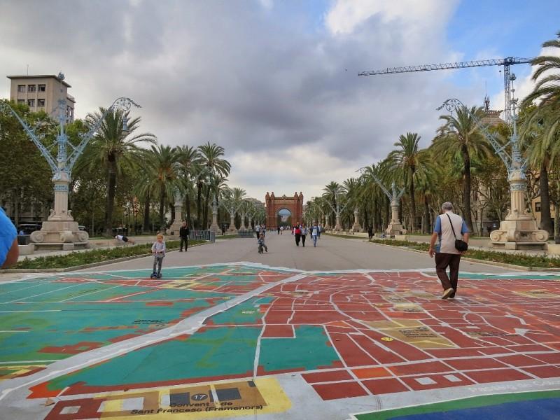 Barcelona Map Parc de la Ciutadella Spain
